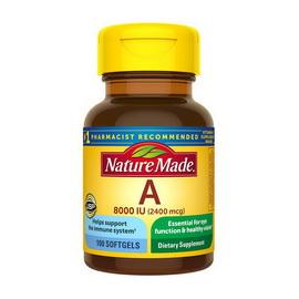 Vitamin A 2400 mcg (8000 IU) (100 softgels)