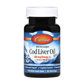 Cod Liver Oil 280 mg Omega-3s Minis (100 mini softgels)