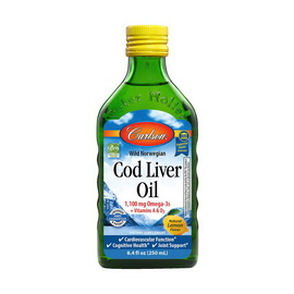 Cod Liver Oil 1100 mg Omega-3s + Vitamins A & D3 (250 ml)
