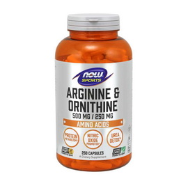 Arginine & Ornithine 500 mg/250 mg (250 caps)