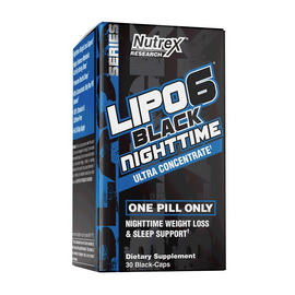 Lipo 6 Black NightTime Ultra Concentrate (30 caps)