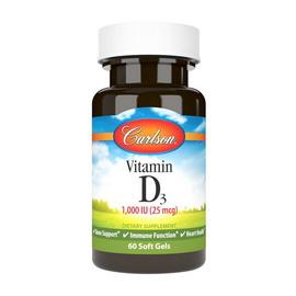 Vitamin D3 1000 IU (25 mcg) (60 softgels)