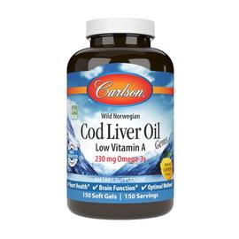 Cod Liver Oil Low Vitamin A 230 mg Omega-3s (150 softgels)