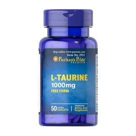 L-Taurine 1000 mg Free Form (50 caplets)