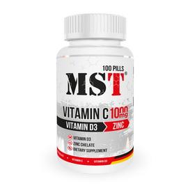 Vitamin C 1000 mg + Vitamin D3 + Zinc (100 pills)