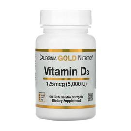Vitamin D3 125 mcg (5000 IU) (90 fish softgels)