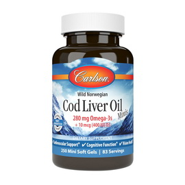 Cod Liver Oil 280 mg Omega-3s Minis (250 mini softgels)