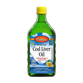 Cod Liver Oil 1100 mg Omega-3s + Vitamins A & D3 (500 ml)