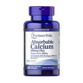 Absorbable Calcium 600 mg plus Magnesium & Vitamin D3 (60 softgels)