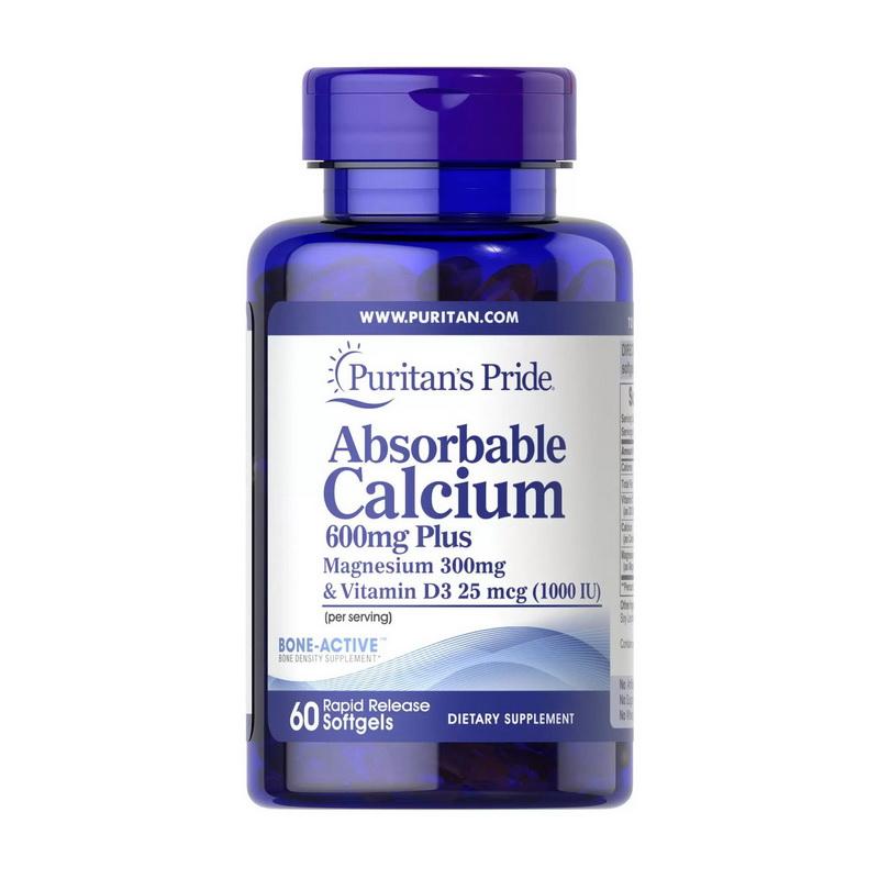 Absorbable Calcium 600 mg plus Magnesium & Vitamin D3 (60 softgels)