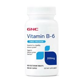 Vitamin B-6 Timed-Release 200 mg (100 veg tabs)