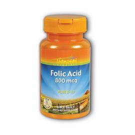 Folic Acid 800 mcg with B-12 (30 tabs)