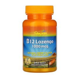 B-12 Lozenge 1000 mcg plus Folic Acid (30 lozenges)