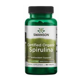 Certified Organic Spirulina 500 mg (180 tabs)