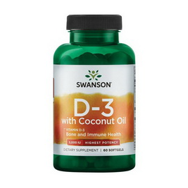 D3 5000 IU with Coconut Oil (60 softgels)