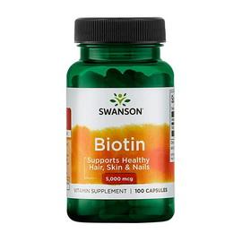Biotin 5000 mcg (100 caps)