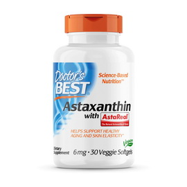 Astaxanthin with Asta Real 6 mg (30 veg softgels)