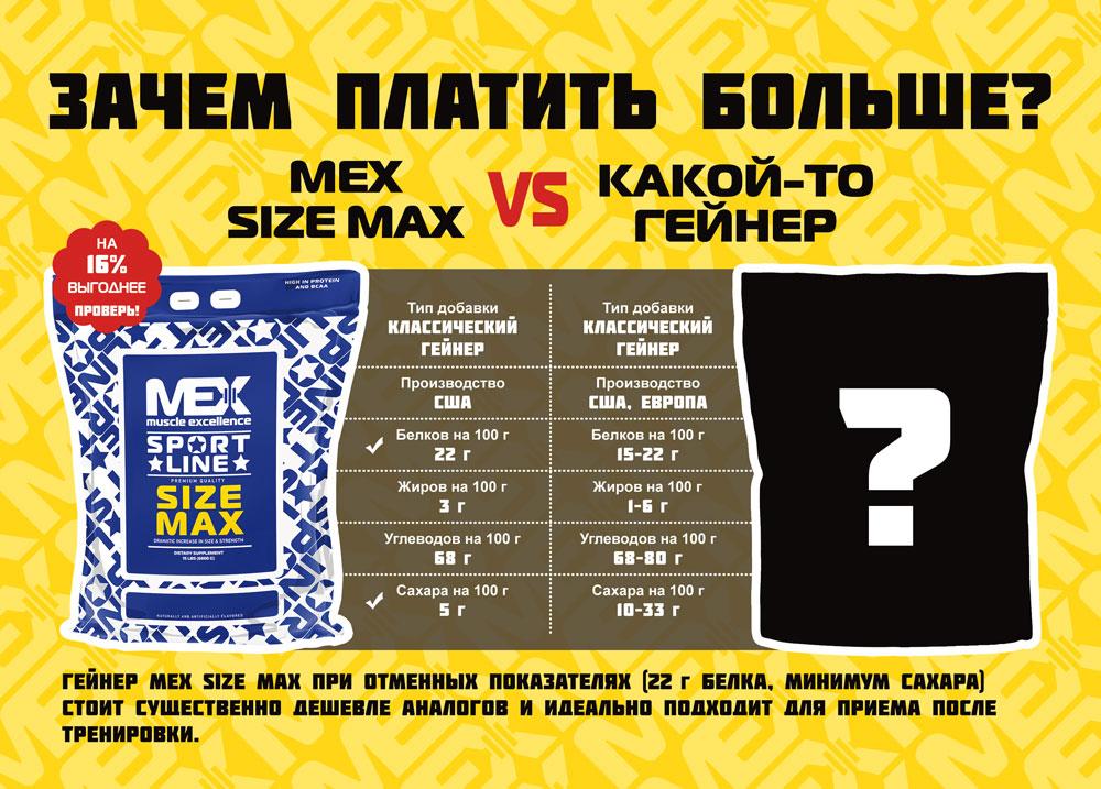 Гейнер MEX Size Max